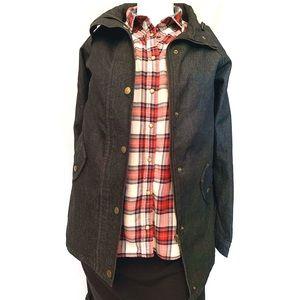 Zaful NWT Black Denim Stand Collar Jean Jacket XL